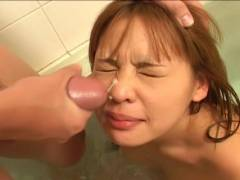 Small breast Asian hairy pussy felt out!
