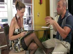 Hot MILF Footjobs