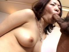 Horny hairy pussy Japanese pokeed hard!