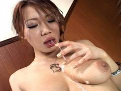 Misaki Asou best sloppy and messy blowjob!